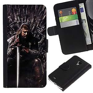// PHONE CASE GIFT // Moda Estuche Funda de Cuero Billetera Tarjeta de crédito dinero bolsa Cubierta de proteccion Caso Samsung Galaxy S4 Mini i9190 / Thrones Series /