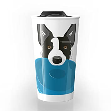 Collie 2 Border 12 Disc Dog Society6 Travel OzNiklabAmazon Mug xWdCrBeo