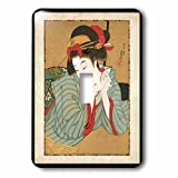 Florene Asian - 1850 Japanese Portrait Painting Of Woman - Light Switch Covers - single toggle switch (lsp_62455_1)
