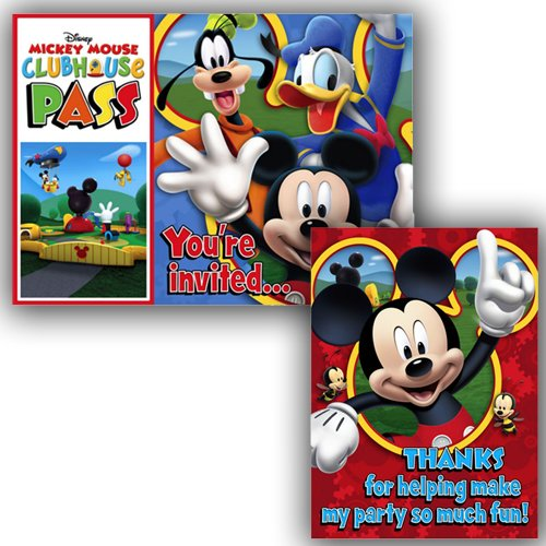 Mickey Mouse 'Playtime' Invitations and Thank You Notes
