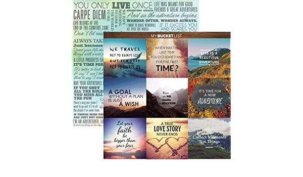 Amazon com: Yolo - Bucket List 12x12 Scrapbook Paper - 5
