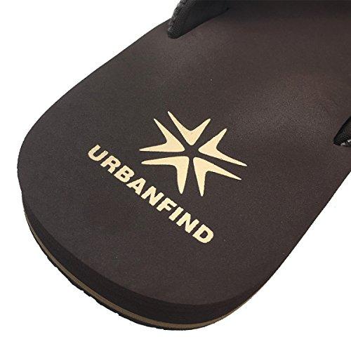 URBANFIND Herren 'Classic Thong Sandalen Strand Flip-Flop Hausschuhe Braun