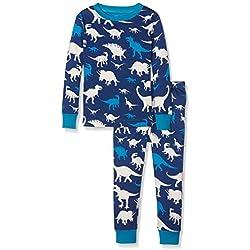 Hatley - Juego de pijama, Varones , Silhouette Dinos, 10