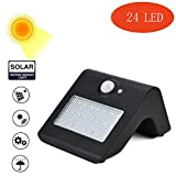 Fineser LED Solar Lights,24 LED Outdoor Solar Wall Light with Motion Sensor Detector for Garden Fence Deck Yard Driveway Walkways Landscaping Security