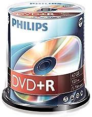 Philips DVD+R blanks (4,7 GB data/120 minuten video, 16x High Speed opname, 100 spindel)