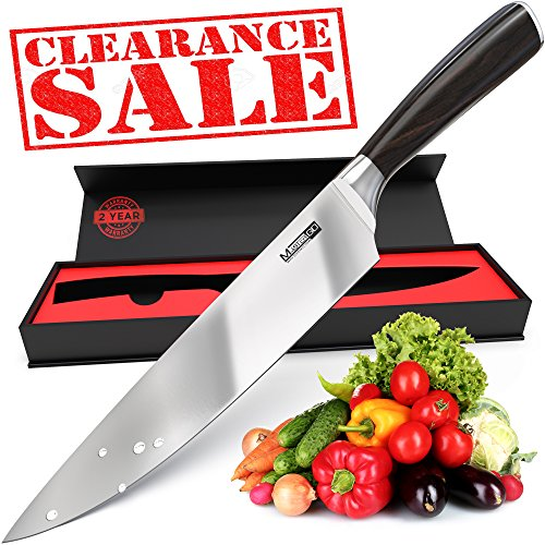 MasterGO Kitchen 8inch Chef Knife - Super Sharp Knife - Cooking Knife Professional - Best Chefs Knife and nice Sushi Knife - German High Carbon Stainless Steel Kitchen Knives for Man and Woman