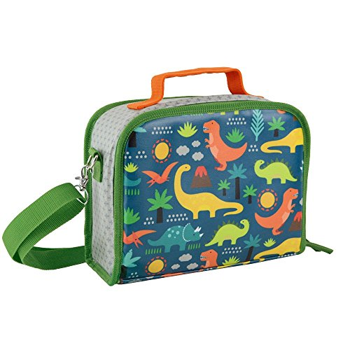 Petit Collage Insulated Lunch Box, - Dinosaur Insulated Lunch Box