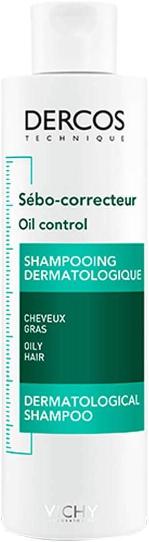Vichy, Dercos Oil Control - Champú tratamiento para cabellos grasos - 200 ml, 1 Pieza