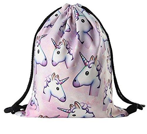Unicorn B Backpack Women Drawstring Shoulder Bags Print Girls Yuhemii dq68WxPd