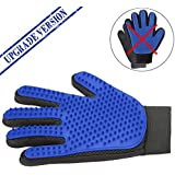 Think Good Times [Upgrade Version] Redesigned Pet Grooming Gloves - for Your Pets Large Or Small – Hair [Horses and Dogs ] Fur [Cats] and Everything in Between