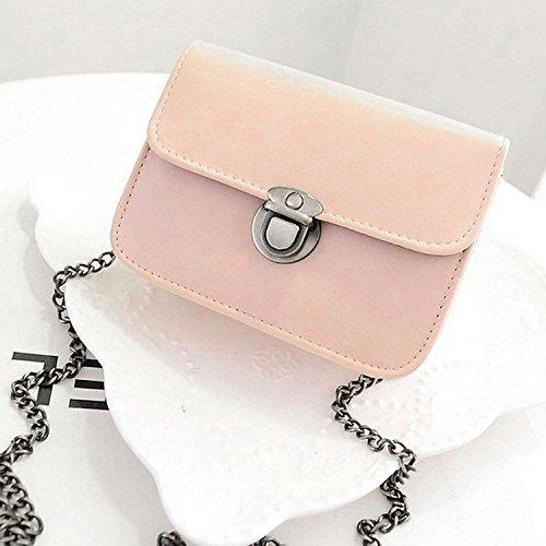 Little Sporter Small Square Umhängetasche Messenger Bag Handtasche Einfache lässige Handtasche Frau Taschen Rosa