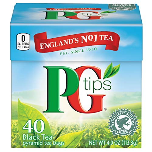 PG Tips Premium Black Tea, Black Tea Pyramid Bags, 40 ct