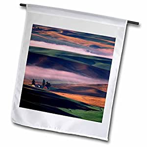 Danita Delimont - Washington - Washington, Whitman County. Steptoe Butte - US48 CCR0131 - Charles Crust - 12 x 18 inch Garden Flag (fl_95203_1)