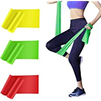HAIBEI Resistance Bands Elastic Exercise Bands 3 Pack Physical Therapy Tension Band Recovery Band Workout Strength…