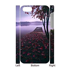 ZK-SXH - Autumn scenery Brand New Durable 3D Cover Case Cover for iPhone 4,4G,4S, Autumn scenery Cheap 3D Case