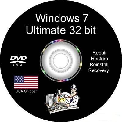 Windows 7 Ultimate 32-Bit Install | Boot | Recovery | Restore DVD Disc Disk Perfect for Install or Reinstall of Windows