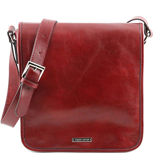 Tuscany Leather - Sac porté épaule cuir - Rouge
