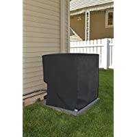 Comp Bind Technology Waterproof Cover for Air Conditioning System Unit York Model YFE18B21S. Outdoor Black Nylon Cover By Dimensions 24W x 24D x 36.5H
