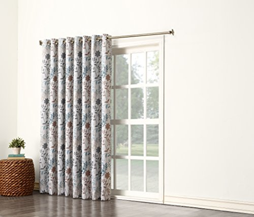 Sun Zero Kara Energy Efficient Patio Door Curtain Panel, 100