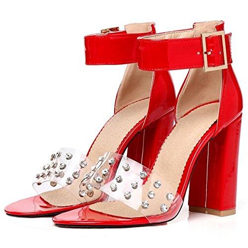 Heels Sandali Red Block Zanpa Mode Donne qavSxpwcT0