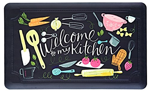 Mohawk Home Welcome to My Scattered Stain Resistant Cushioned Comfort Kitchen Mat, 18x30, Multicolor