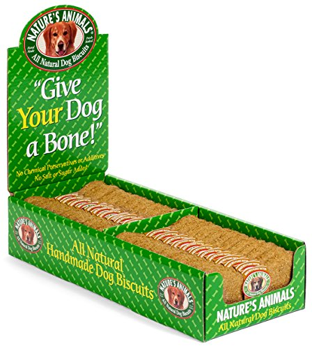 Nature's Animals Original Bakery Biscuits All Natural Dog Treats, Bone Shaped, Peanut Butter (Peanut butter),24 count (Peanut Animal)