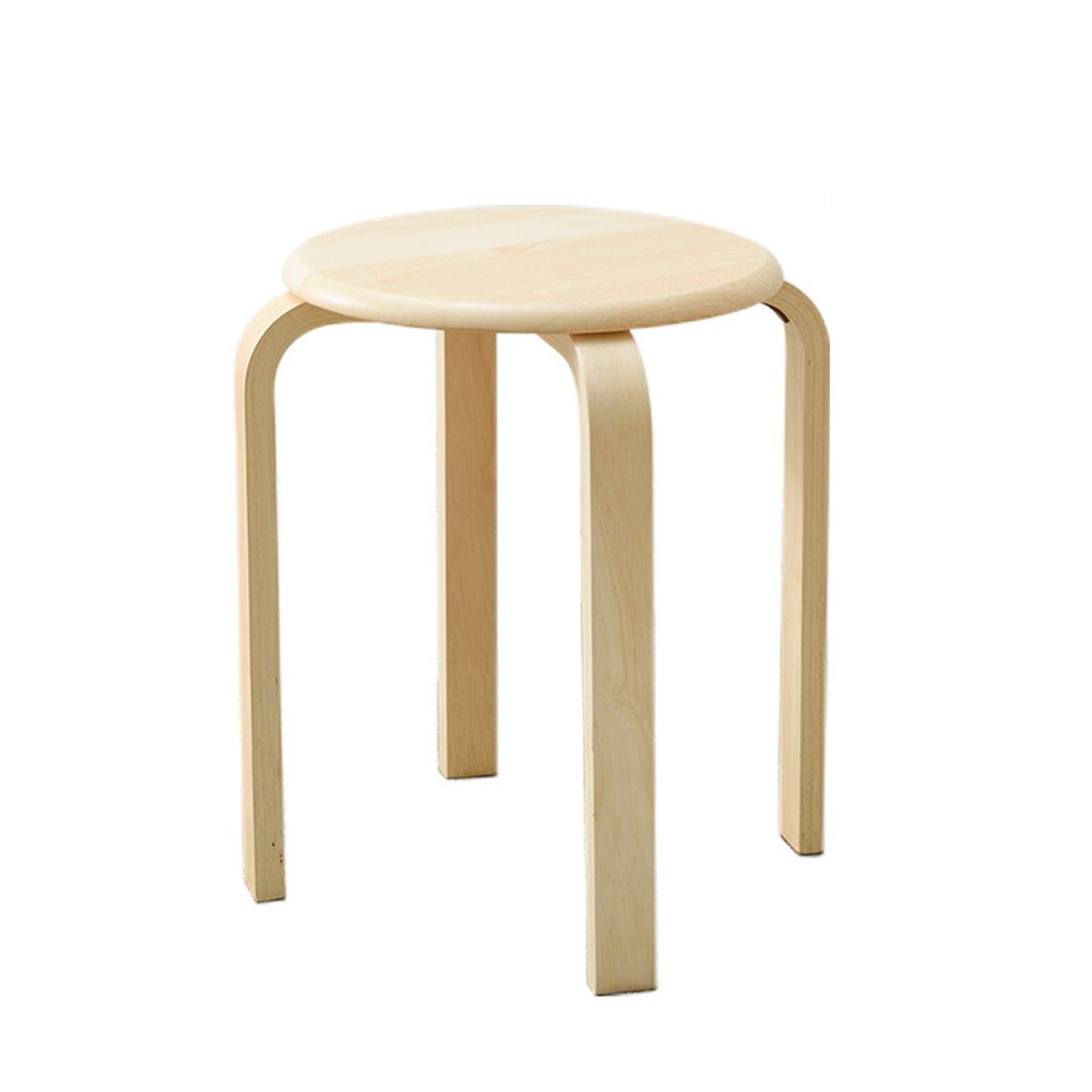 Stool - solid wood stool/stool/home table/stool/fashion stool/small bench/adult wooden stool/dining stool (three color optional) (Color : 2)