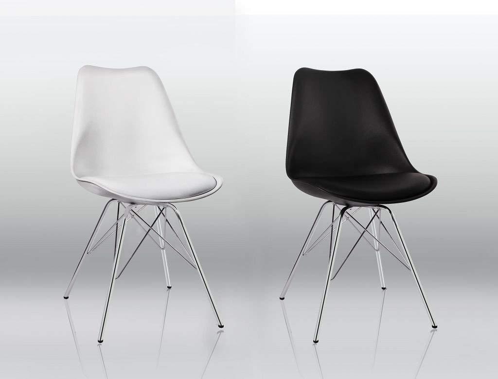Sedie Di Metallo Vintage : Sedie enrico pellizzoni design vintage pz nere pelle leather black