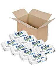 Scott Flushable Wipes, No Added Fragrance, 8 Soft Packs with 408 Wet Wipes Total (Pack May Vary)
