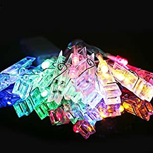 New Battery Powered Home Decor Photo Hanging Clip String LED Lights (Multicolor)