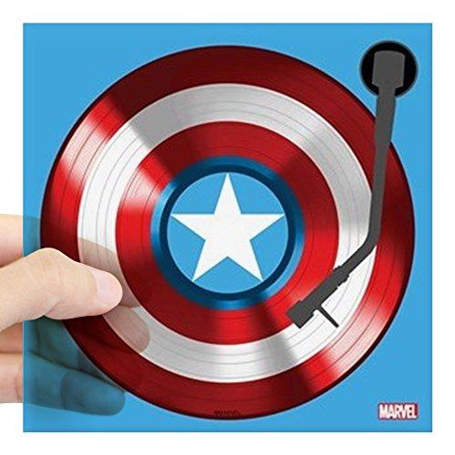 CafePress Captain America Vinyl Shiel Square Sticker 3 X 3 Square Bumper Sticker Car Decal, 3