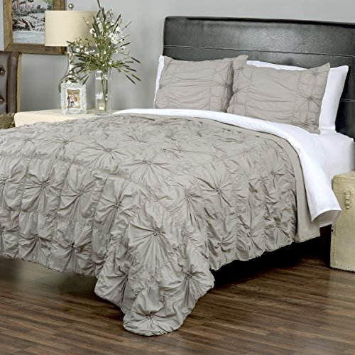 Arden Loft Thistle Terrace Collection Dreamweaver Gray 3 Piece Queen Quilt Set