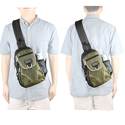 Backpack Green Bag Chest Shoulder Unisex Vanlison Sling Crossbody qw6x0Hn17t