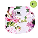 CALIFORNIA CADE ELECTRONIC Cade Pet Baseball Cap/Dogs Sport Hat/Visor Cap with Ear Holes for Small Dogs (Floral Print-XL)
