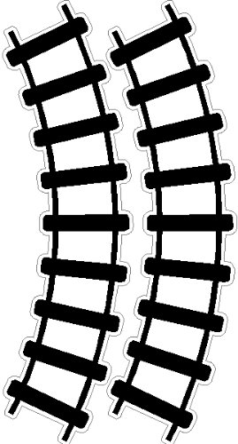 Fabulous Peel and Stick Curved Train Tracks Stickers Decals Removable Wall  XZ95