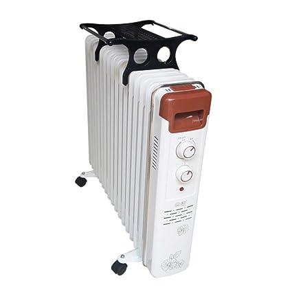 DW&HX Radiador de Aceite, Portátil Electrico Silencioso Radiador Calefactor Calentador de Espacio con la Rueda