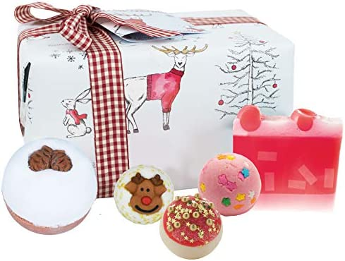 Bomb Cosmetics Creature Comforts Handmade Wrapped Bath and Body Gift Pack, Contains 5-Pieces, 350 g [Contents May Vary]