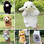 Best Quality - Puppets - Animals Hand Puppets Stuffed Plush Toys Bear Goat Cat Monkey Puppet Dolls Telling Story Toy Kids Gift - by Tini - 1 PCs from Tini