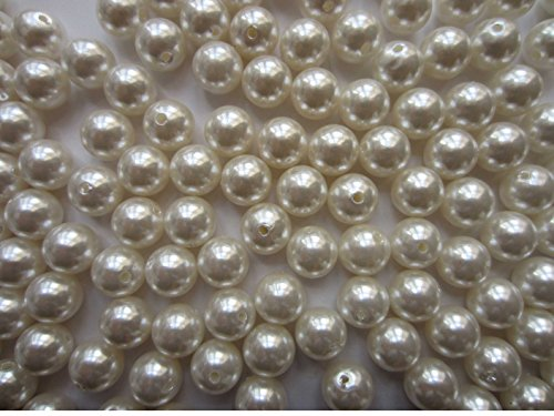Pearl Beads For Jewelry Making With Large Holes-LeBeila Faux Loose Pearl Beads ABS Plastic Decoration Pearls Beads In Bulk For Crafting, Toys, Bracelet (12mm)