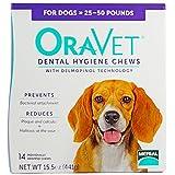 Frontline Merial Oravet Dental Hygiene Chew for Medium Dogs (25-50 lbs), Dental Treats for Dogs, 14 Count