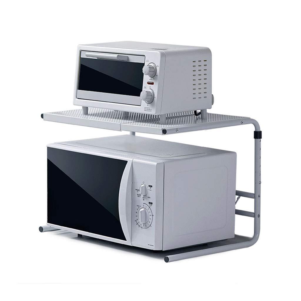 YL Home Einziehbare Mikrowelle Regalboden Kü chenregal Frei Stanzen Ofen Rack 2 Schichten A++