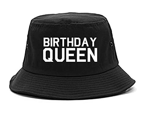 FASHIONISGREAT Birthday Queen Bday Bucket Hat Black