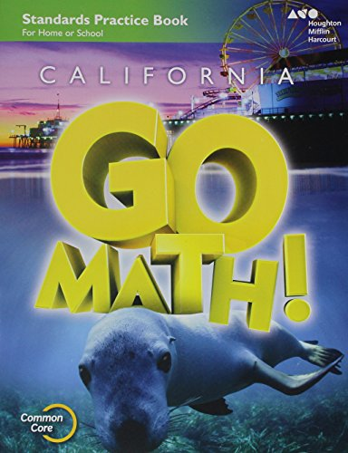 Houghton Mifflin Harcourt Go Math! California: Practice Workbook Grade 1