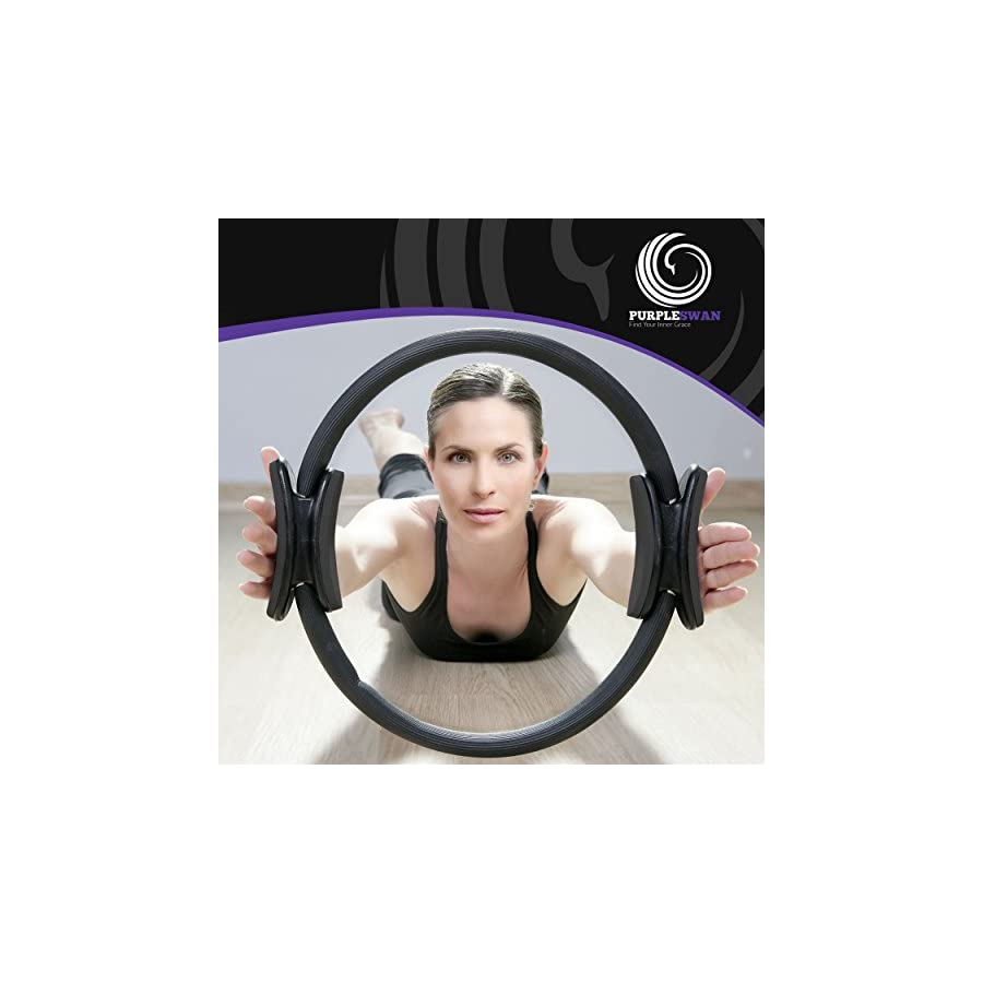 Pilates Ring / Fitness Circle Premium Resistance Powered Full Body Toning for Pilates and Yoga (14 Inch)