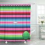 Pink Green Stripe Shower Curtain Emvency Shower Curtain 72