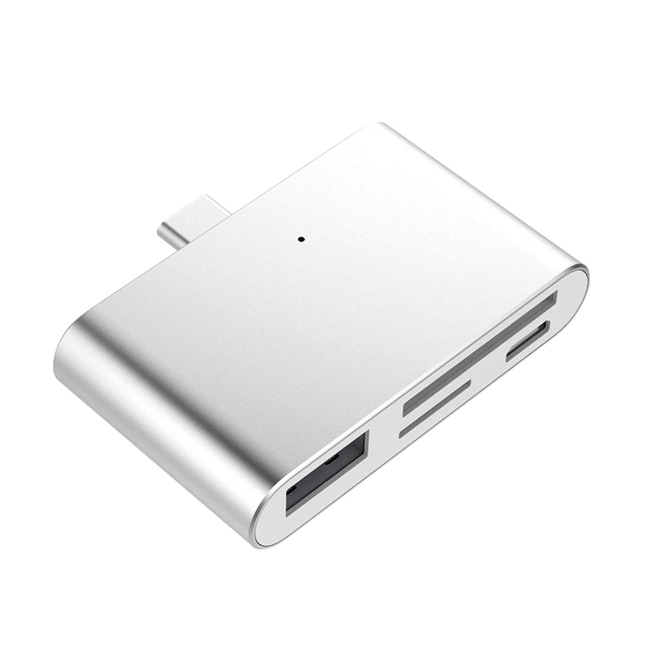 USB C Hub4-in-1USB Adapter Docking Station with Type-C SD/TF Card Reader USB 2.0 Ports for 016/2017 MacBook Pro Google Chromebook Phone Switch and More USB-C Devices