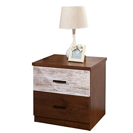 1349edeb7fba Amazon.com: Bedside table GJM Shop Wood-Based Panel Bedroom with ...