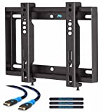 Mounting Dream MD2351 Ultra Slim TV Wall Mount Bracket for most 26-42 Inch LED, LCD Flat Screen TV with VESA from 75X75 to 200x200mm, Loading Capacity 66 lbs