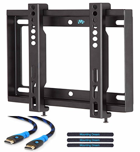 mounting dream md2351 ultra slim tv wall mount bracket for m