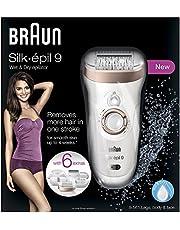 Braun Silk-épil 9 9-561 Wet and Dry Cordless Epilator/Epilation Plus 6 Extras